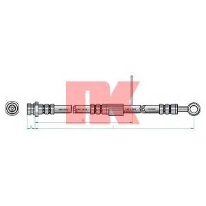 Тормозной шланг 853412 nk - HYUNDAI ACCENT II (LC) Наклонная задняя часть 1.3