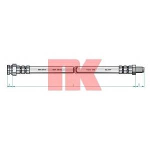 Тормозной шланг 853735 nk - PEUGEOT 306 Наклонная задняя часть (7A, 7C, N3, N5) Наклонная задняя часть 1.9 D