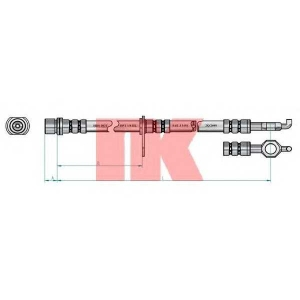 Тормозной шланг 8545148 nk - TOYOTA AVENSIS универсал (T25) универсал 2.0 VVTi