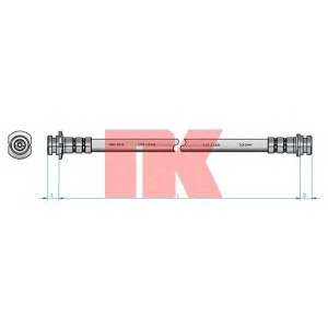 Тормозной шланг 855017 nk - DAEWOO KALOS (KLAS) Наклонная задняя часть 1.4