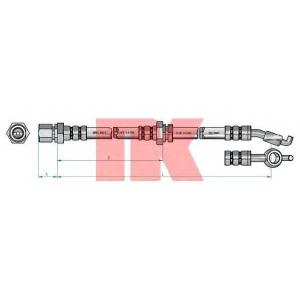 Тормозной шланг 855022 nk - CHEVROLET NUBIRA седан седан 1.4