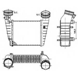 NRF 30147A Интеркулер VW B-5 1.8T (01>) SK SuperB 1.8T
