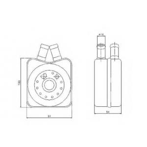 NRF 31304 Охладитель масла двигателя
