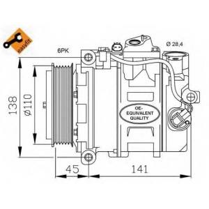 NRF 32214 Компрессор кондиционера EASY FIT