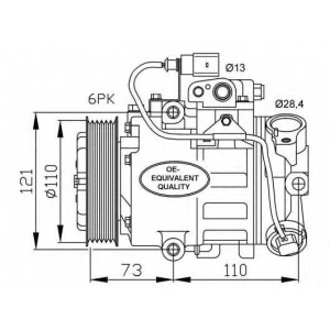 NRF 32225 Компрессор, кондиционер