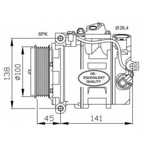 NRF 32256 Компрессор кондиционера Sprinter/Vito CDI -06/06-