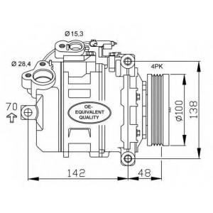 NRF 32433 Компрессор кондиционера