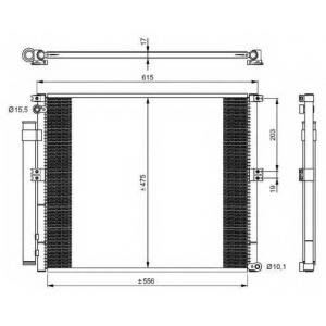 NRF 350050 Радиатор кондиционера
