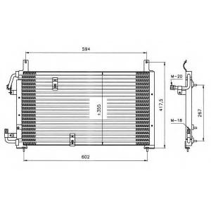 NRF 35197 Радіатор кондиціонера