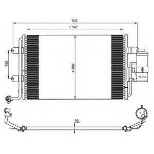 NRF 35227 Радіатор кондиціонера