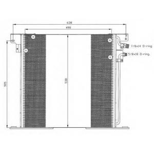 NRF 35305 Радіатор кондиціонера