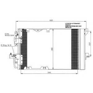 NRF 35416 Радиатор кондиционера