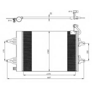 NRF 35480 Радиатор кондиционера