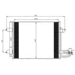 NRF 35521 Радіатор кондиціонера