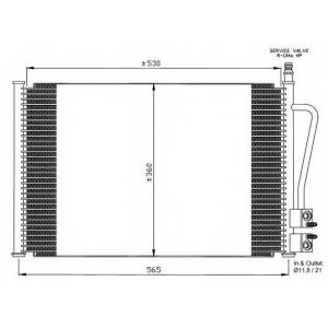 NRF 35524 Радіатор кондиціонера