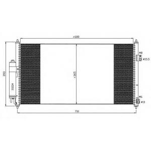 NRF 35550 Радиатор кондиционера