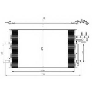 NRF 35551 Радиатор кондиционера