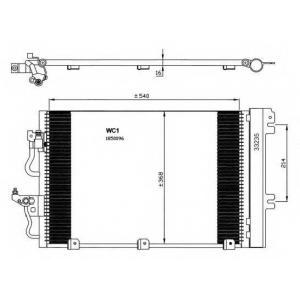 NRF 35555 Радіатор кондиціонера
