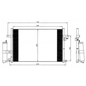 NRF 35573 Радіатор кондиціонера