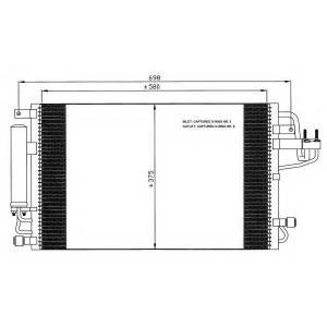 NRF 35600 Радіатор кондиціонера
