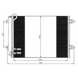 NRF 35614 Радіатор кондиціонера