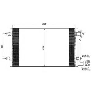NRF 35656 Радіатор кондиціонера