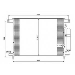 NRF 35766 Радіатор кондиціонера
