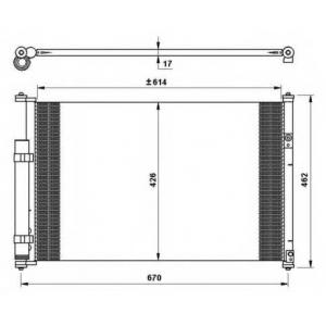NRF 35769 Радиатор кондиционера