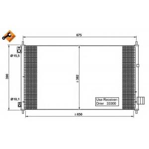 NRF 35780 Радиатор кондиционера EASY FIT