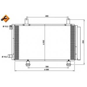 NRF 35782 Радиатор кондиционера EASY FIT