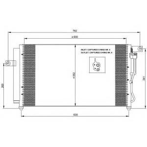 NRF 35798 Радіатор кондиціонера