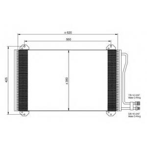 NRF 35811 Радіатор кондиціонера