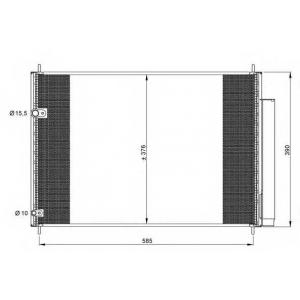 NRF 35839 Радіатор кондиціонера