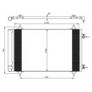 NRF 35844 Радиатор кондиционера