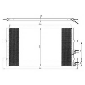 NRF 35846 Радиатор кондиционера
