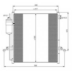NRF 35871 Радіатор кондиціонера