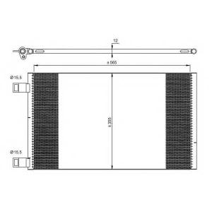 NRF 35902 Радіатор кондиціонера