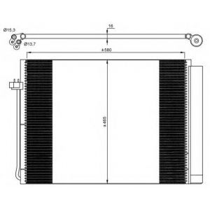 NRF 35906 Радиатор кондиционера