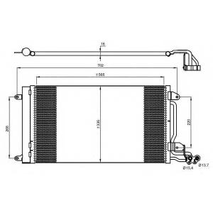 NRF 35910 Радіатор кондиціонера