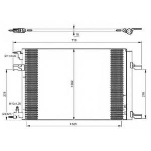 NRF 35918 Радиатор кондиционера