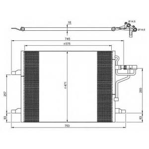 NRF 35936 Радиатор кондиционера