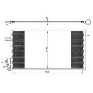 NRF 35940 Радиатор кондиционера