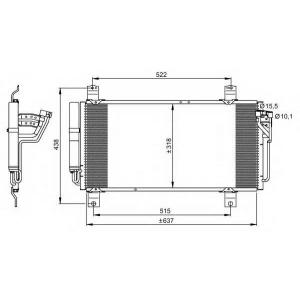 NRF 35949 Радіатор кондиціонера