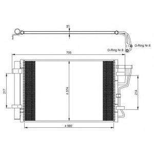 NRF 35963 Радиатор кондиционера EASY FIT