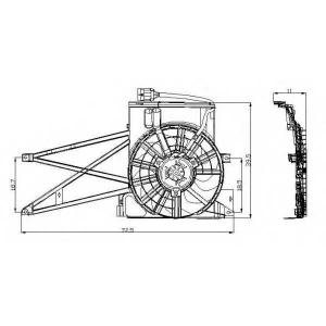 NRF 47013 Вентилятор, охлаждение двигателя