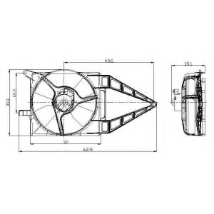 NRF 47020 Вентилятор, охлаждение двигателя