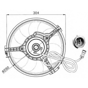 NRF 47023 Вентилятор охлаждения радиатора