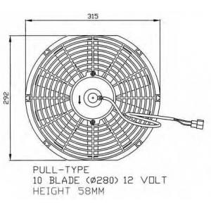 NRF 47060 Вентилятор, охлаждение двигателя