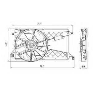 NRF 47291 Вентилятор радиатора