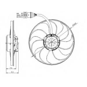NRF 47393 Вентилятор радіатора